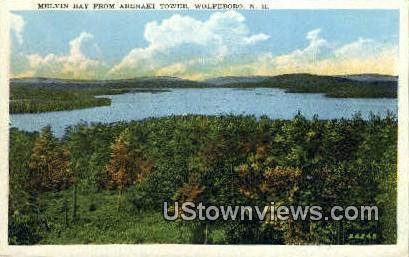 Melvin Bay, Abenaki Tower - Wolfeboro, New Hampshire NH Postcard