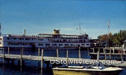 MV Mount Washington, Dockside - Wolfeboro, New Hampshire NH Postcard