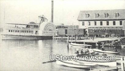 Reproduction - Wolfeboro Dock Station - New Hampshire NH Postcard