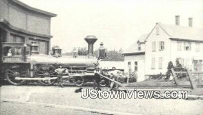 Reproduction - Wolfeboro Roundhouse - New Hampshire NH Postcard