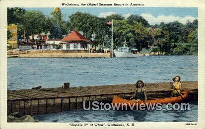 Sophie C, Wharf - Wolfeboro, New Hampshire NH Postcard