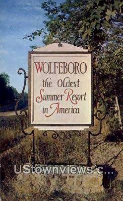 Lake Winnepesaukee - Wolfeboro, New Hampshire NH Postcard