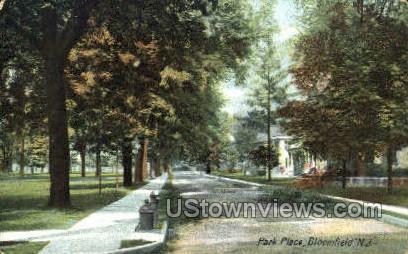 Park Place - Bloomfield, New Jersey NJ Postcard