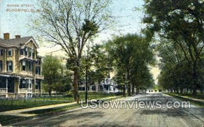 Broad Street  - Bloomfield, New Jersey NJ Postcard