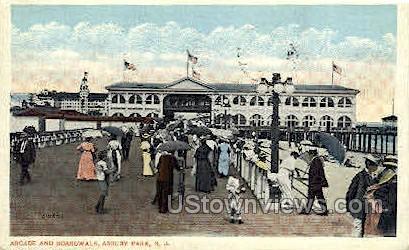 Arcade & Boardwalk - Asbury Park, New Jersey NJ Postcard
