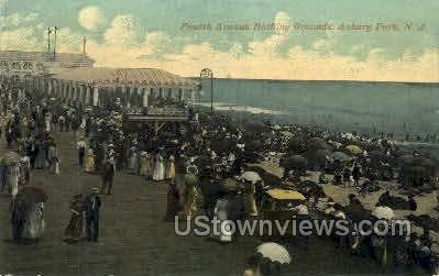4th Ave Bathing Grounds - Asbury Park, New Jersey NJ Postcard