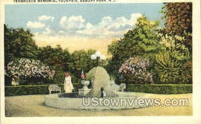 Tenbroeck Memorial Fountain - Asbury Park, New Jersey NJ Postcard