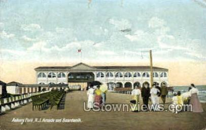 Arcade & Boardwalk - Asbury Park, New Jersey NJ Postcard