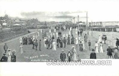 The Boardwalk - Asbury Park, New Jersey NJ Postcard