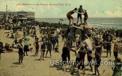 Beach - Asbury Park, New Jersey NJ Postcard