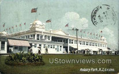 Casino - Asbury Park, New Jersey NJ Postcard