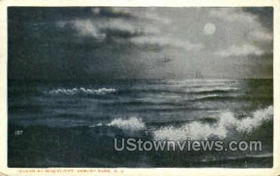 Ocean - Asbury Park, New Jersey NJ Postcard