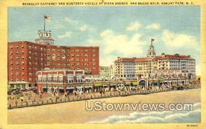 Monterey Hotels - Asbury Park, New Jersey NJ Postcard