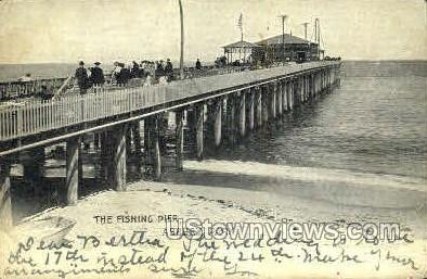 The Fishing Pier - Asbury Park, New Jersey NJ Postcard