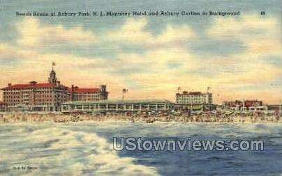 Monterey Hotel - Asbury Park, New Jersey NJ Postcard