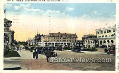 Asbury Ave, Casino - Asbury Park, New Jersey NJ Postcard