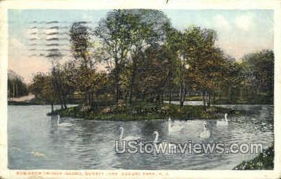 Robinson Crusoe Island, Sunset Lake - Asbury Park, New Jersey NJ Postcard