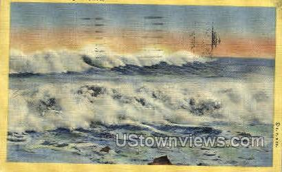 Ocean Breakers - Asbury Park, New Jersey NJ Postcard