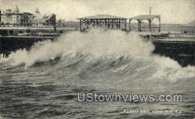 A Large Wave - Asbury Park, New Jersey NJ Postcard