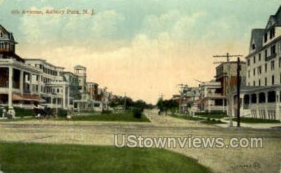 6th Avenue - Asbury Park, New Jersey NJ Postcard