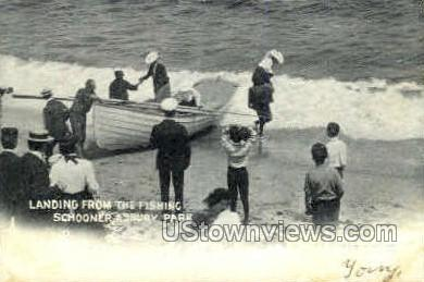 The Fishing Schooner - Asbury Park, New Jersey NJ Postcard