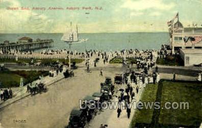 Ocean End, Asbury Ave. - Asbury Park, New Jersey NJ Postcard