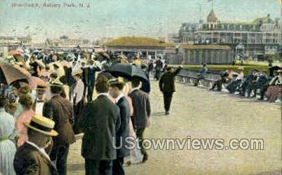 Boardwalk - Asbury Park, New Jersey NJ Postcard