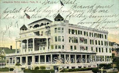 Lafayette Hotel - Asbury Park, New Jersey NJ Postcard