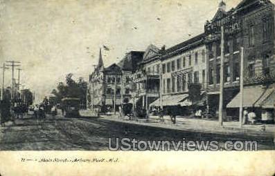Main Street - Asbury Park, New Jersey NJ Postcard