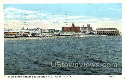 Shore Front, Convention Hall - Asbury Park, New Jersey NJ Postcard