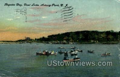 Deal Lake - Asbury Park, New Jersey NJ Postcard