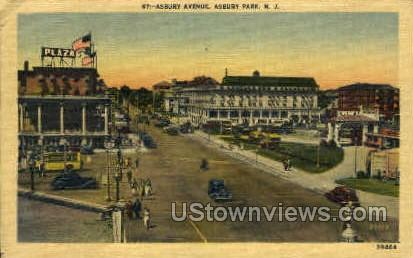 Asbury Ave. - Asbury Park, New Jersey NJ Postcard