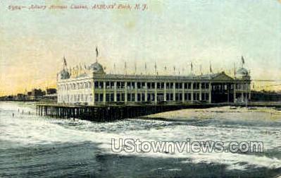 Asbury Ave Casino - Asbury Park, New Jersey NJ Postcard