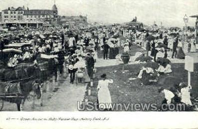 Ocean Ave, Baby Parade Day - Asbury Park, New Jersey NJ Postcard