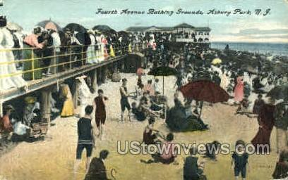Fourth Ave., Bathing Grounds - Asbury Park, New Jersey NJ Postcard
