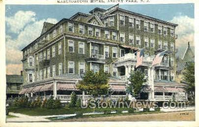 Marlborough Hotel - Asbury Park, New Jersey NJ Postcard