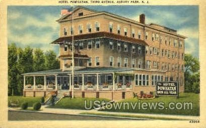 Hotel Powhatan - Asbury Park, New Jersey NJ Postcard