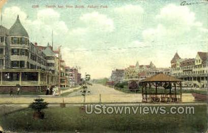 Fourth Ave. - Asbury Park, New Jersey NJ Postcard