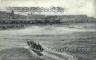 Fishing Trip - Asbury Park, New Jersey NJ Postcard
