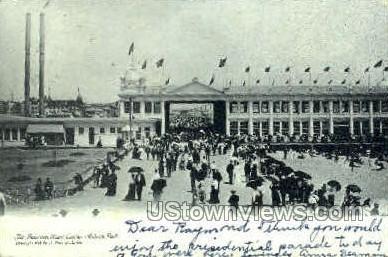 Boardwalk & Casino - Asbury Park, New Jersey NJ Postcard