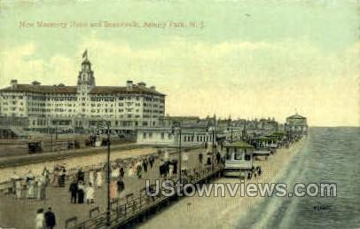 New Monterey Hotel - Asbury Park, New Jersey NJ Postcard