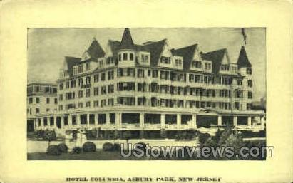 Hotel Columbia - Asbury Park, New Jersey NJ Postcard
