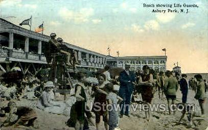Life Guards - Asbury Park, New Jersey NJ Postcard