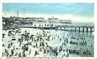 Beach, Casino - Asbury Park, New Jersey NJ Postcard