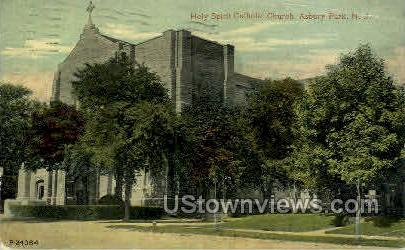Holy Spirit Catholic Church - Asbury Park, New Jersey NJ Postcard