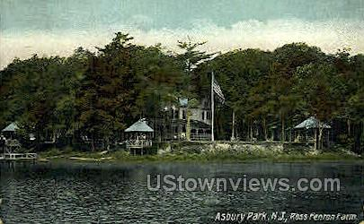 Ross Fenton Farm - Asbury Park, New Jersey NJ Postcard