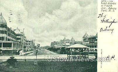 Hotel District - Asbury Park, New Jersey NJ Postcard