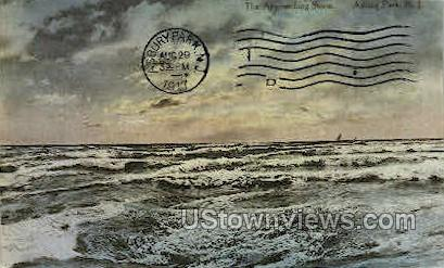 Approaching Storm - Asbury Park, New Jersey NJ Postcard