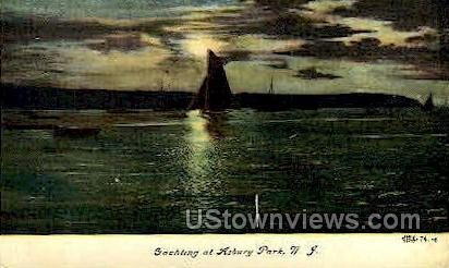 Yachting - Asbury Park, New Jersey NJ Postcard