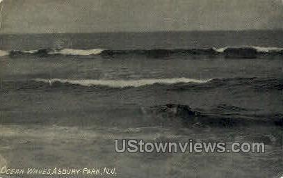 Ocean Waves - Asbury Park, New Jersey NJ Postcard